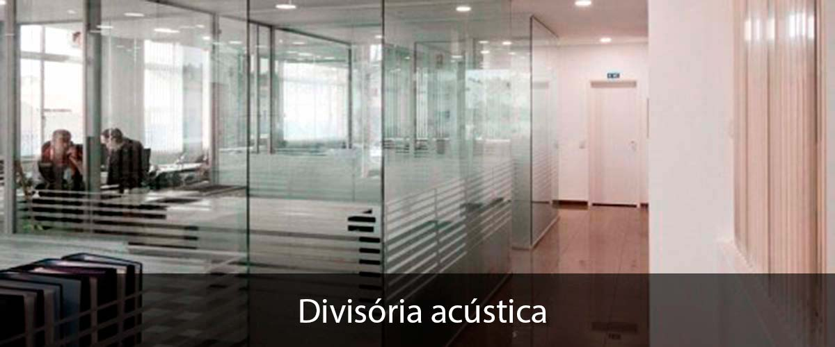 Divisória acustica